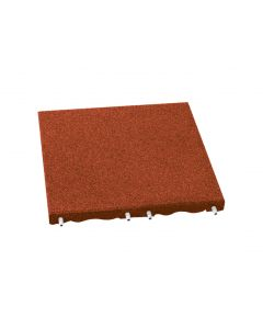 Red 40mm RubberLok Play-Safe Tile (500mm x 500mm) Red