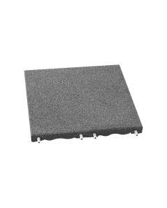Grey 40mm RubberLok Play-Safe Tile (500mm x 500mm) Grey