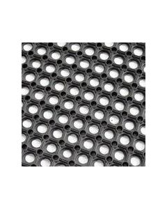 Hollow Ring Rubber Grass Mat (1m x 1m) Black
