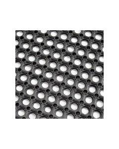 Hollow Ring Rubber Grass Mat (1m x 1m) Black