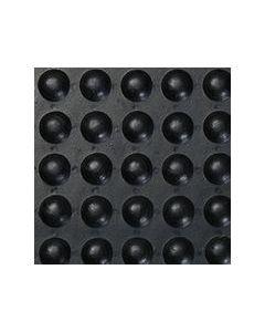1.2cm Rubber Bubble Mat (90cm x 1.5m) Black