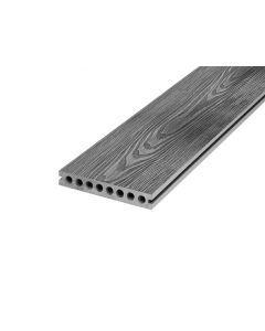 Grey 23mm Double Sided Dueto Decking Board (150mm x 3,600mm) Grey