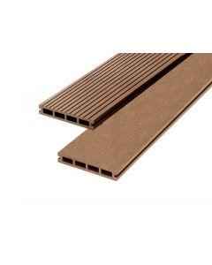 Brown 23mm Double Sided Estandar Decking Board (146mm x 3,600mm) Brown
