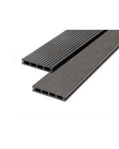 Charcoal 23mm Double Sided Estandar Decking Board (146mm x 3,600mm) Grey