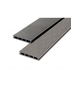 Grey 23mm Double Sided Estandar Decking Board (146mm x 3,600mm) Grey