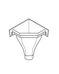 63mm Rainwater Heads - Corner