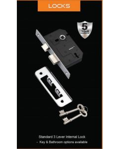 Fortessa Standard 3 Lever Lock Chrome