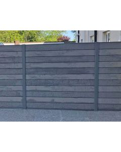 Composite Grey Fence Panel and Post Kit (1.8m x 1.8m)