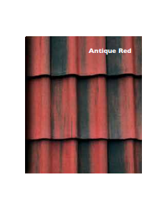 Morrisey Rockford Double Pan Concretre Roof Tile - Antique Red