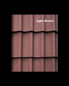 Morrisey Rockford Double Pan Concretre Roof Tile - Light Brown