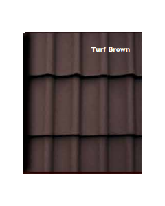 Morrisey Rockford Double Pan Concretre Roof Tile - Turf Brown