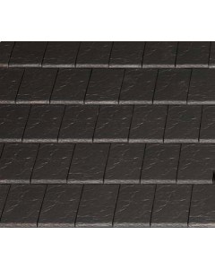 Blackstone Clay Tile (11 per sq m / L: 440mm; W: 280mm; H: 32mm) BLACK