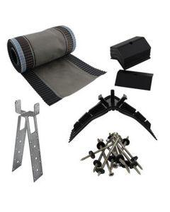 5m Universal Ridge Ventilated Roll Kit (incl 11 clips & Screws)